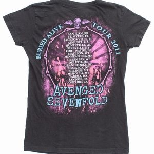 Tultex Tops - Avenged Sevenfold Band Buried Alive 2011 Tour